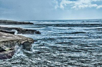 Photograph - Surfs Up On Sunset Cliffs by Daniel Hebard