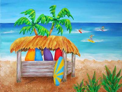 Surf's Up Original by Pamela Allegretto