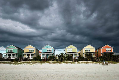 Surfside Beach Houses Art Print