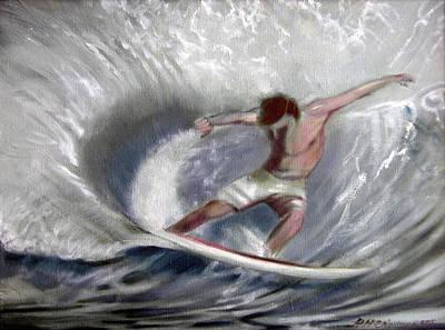 Surf'sup Art Print by Patrick McClintock