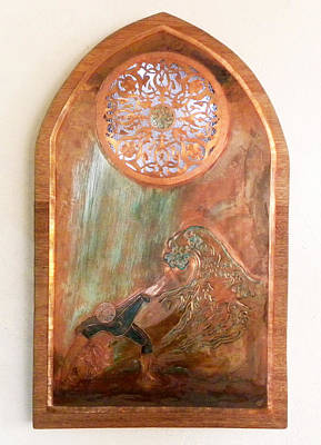 Sacred Feminine Moon Mixed Media - Surge by Shahna Lax