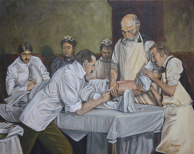 Painting - Surgery 1900 by Todd Cooper