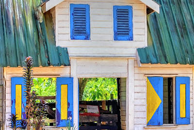 Photograph - Suriname Shutters by Nadia Sanowar