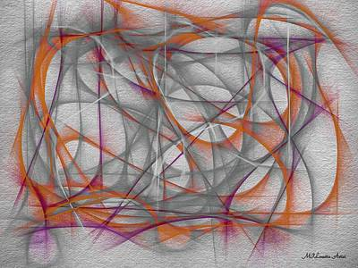 Mixed Media - Surprise-abstract Expression by Marian Palucci-Lonzetta