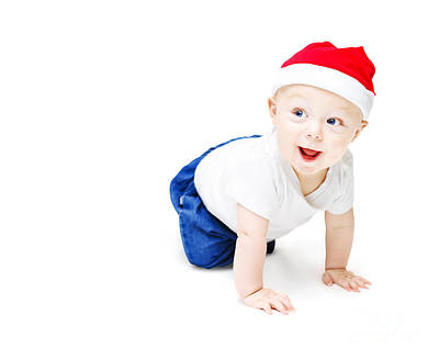 Surprise Christmas Baby Art Print by Jorgo Photography - Wall Art Gallery