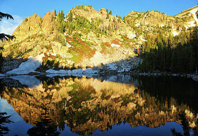 Photograph - Surprise Lake Morning Reflections by Greg Norrell