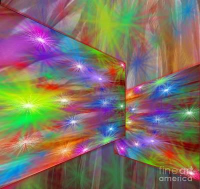 Painting - Alaska Aurora Twinkling Stars  by Belinda Threeths