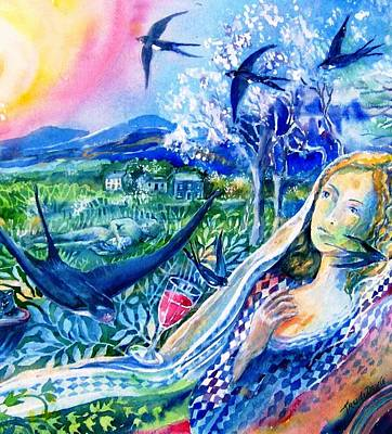 San Juan Capistrano Painting - Surprised By A Swallow  by Trudi Doyle
