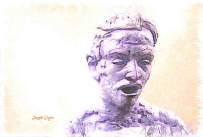 Statue Portrait Painting - Surprising by Leonardo Digenio
