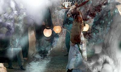 Elf Painting - Surreal 00634535 by Jani Heinonen