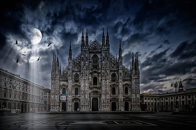 Old Town Digital Art - Surreal Art Milan Cathedral No1 by Melanie Viola