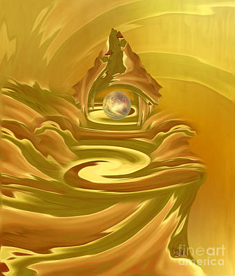 Surrealism Royalty Free Images - Surreal art - The Shrine by RGiada Royalty-Free Image by Giada Rossi