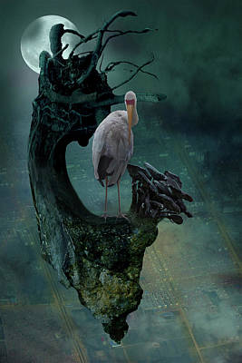 Stork Mixed Media - Surreal Bird,photo by Ralph Klein