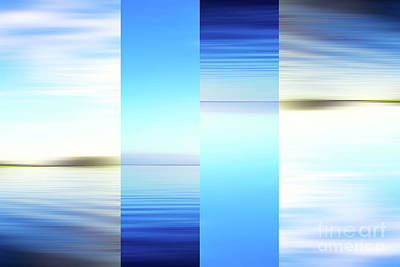 Surrealism Royalty-Free and Rights-Managed Images - Surreal blue abstract seascape by Jan Brons