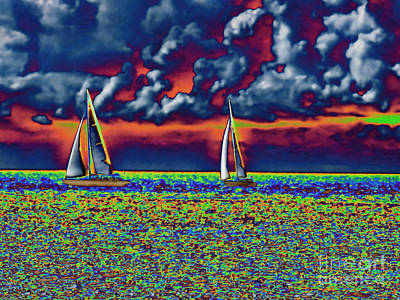 Photograph - Surreal Boating by Steven Parker