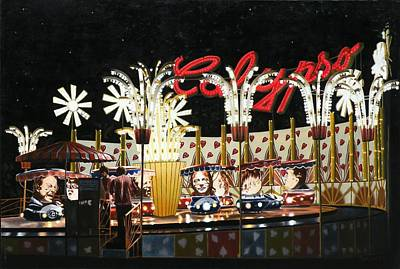 Modern Painting - Surreal Carnival by Dave Martsolf