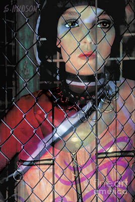 Photograph - surreal contemporary portraits fine art - Behind Bars by Sharon Hudson