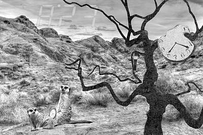 23 Hours Photograph - Surreal Desert Landscape - Daliesque by Mitch Spence