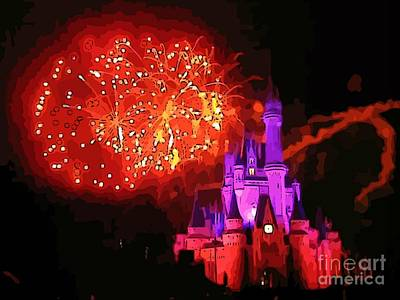 Surreal Disney World Castle Original by John Malone