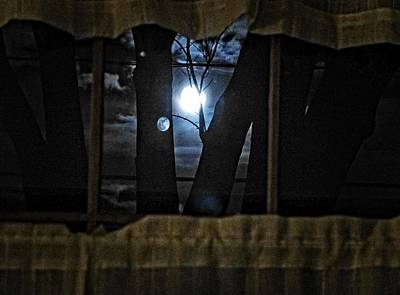 Photograph - Surreal Double Moon by Dee Flouton