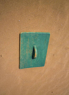 Photograph - Surreal Green Beach Door by Richard Brookes