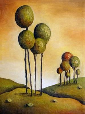 Lollipop Painting - Surreal Landscape 1 by Leah Saulnier The Painting Maniac