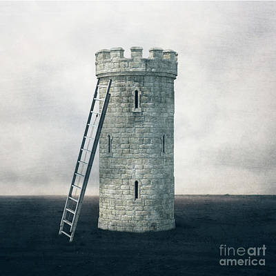 Digital Art - Surreal Landscape - Castle Tower by Edward Fielding