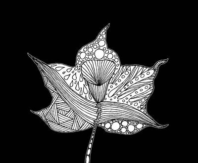 Drawing - Surreal Leaf by Neringa Barmute
