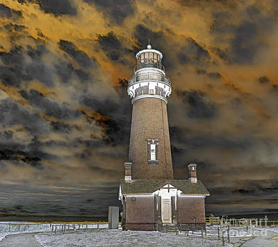 Surrealism Royalty-Free and Rights-Managed Images - Surreal Lighthouse by Marv Vandehey