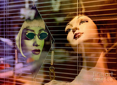 Photograph - surreal mannequins photographs - Get Real by Sharon Hudson