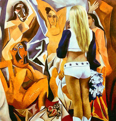 Surrealism Royalty Free Images - Surreal Meeting Royalty-Free Image by Leonardo Digenio