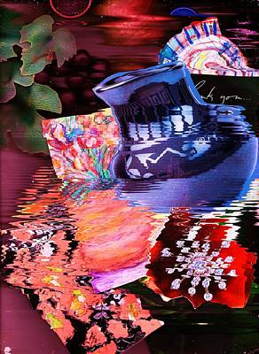 Bling Mixed Media - Surreal Memorabilia  by Anne-elizabeth Whiteway