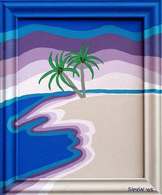 Puerto Rico Painting - Surreal Palms by Lourdes  SIMON