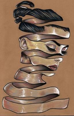 Pastel - Surreal Paper Girl by Ole Hedeager Mejlvang