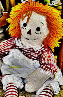 Raggedy Ann Painting - Surreal Raggedy Ann Painting by Floyd Snyder