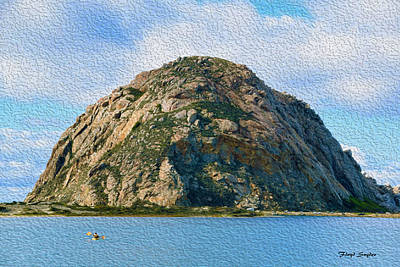 Sand Dunes Painting - Surreal Rock At Morro Bay by Floyd Snyder