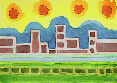 Surreal Simplified Cityscape  Original by Heidi Capitaine