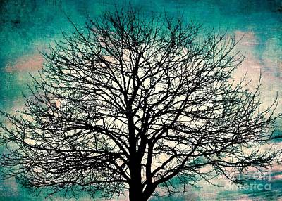 Mixed Media - Surreal Sky Silhouette by Patricia Strand