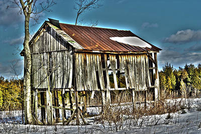Surrealism Royalty-Free and Rights-Managed Images - Surreal Snow Cabin by JB Stran