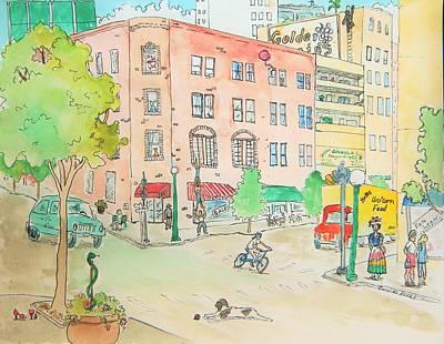 Surreal Street Scene Original by Caroline Henry