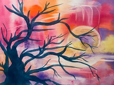 Painting - Surreal Sunset by Ellen Levinson