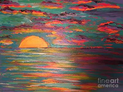 Surrealism Royalty-Free and Rights-Managed Images - Surreal Sunset by Melissa Darnell Glowacki