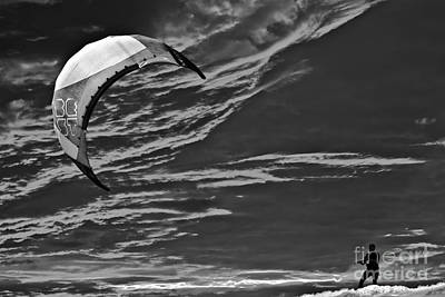 Surrealism Royalty-Free and Rights-Managed Images - Surreal Surfing Mono by Terri Waters