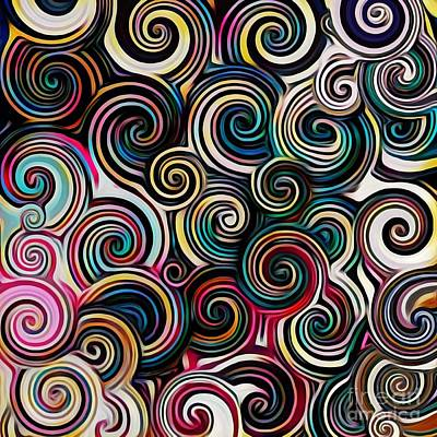 Digital Art - Surreal Swirl  by Lisa Arbitrary