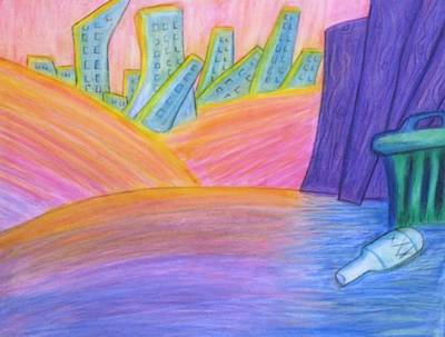 Surreal Toon Wasteland  Original by Shawn Ballard