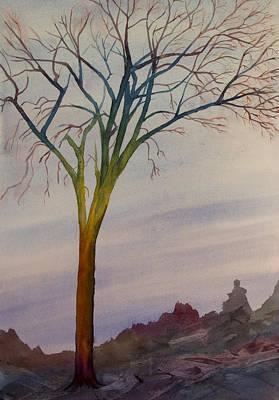Surreal Tree No. 2 Art Print by Debbie Homewood