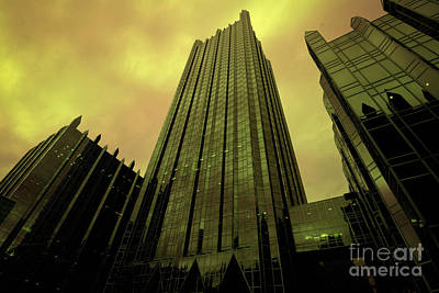 Surreal View Of Ppg Plaza Pittsburgh Art Print by Amy Cicconi