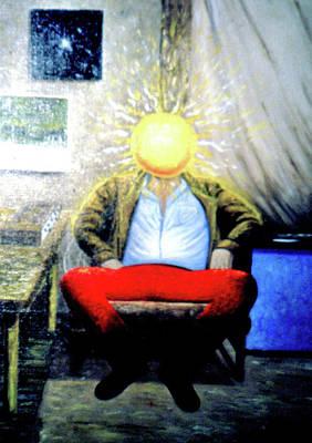 Painting - Surrealist Poet Visits My Studio by Genio GgXpress