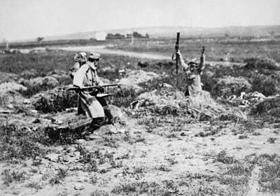 Infantryman Photograph - Surrender At Bayonet Point by Underwood Archives
