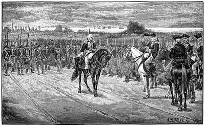 Photograph - Surrender At Yorktown 1880 Engraving by Phil Cardamone